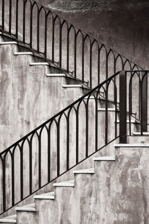 Old style metal staircase and dirty wall Stock Photo - 14051027
