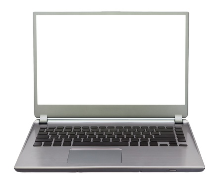 Noterbook computer isolated on white background photo