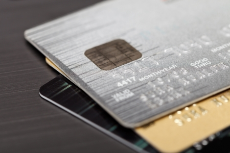 Close up shot of credit card Stock Photo
