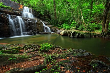 Waterfall in Pang Sida National Park, east of Thailand photo