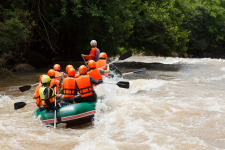 Rafting in Khek river, northern Thailand photo