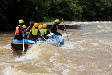 Rafting in Khek river, northern Thailand Stock Photo - 15144312