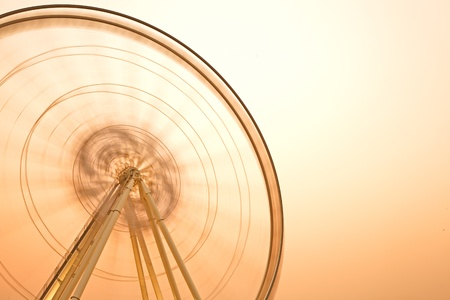 Huge ferry wheel in twilight sky Stock Photo