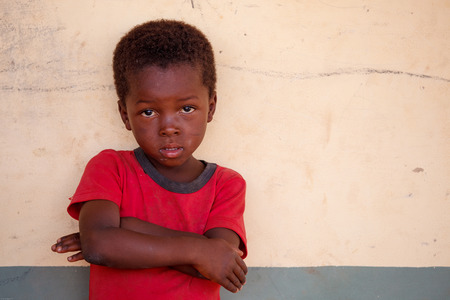 Close up shot of Ghanain boy's face