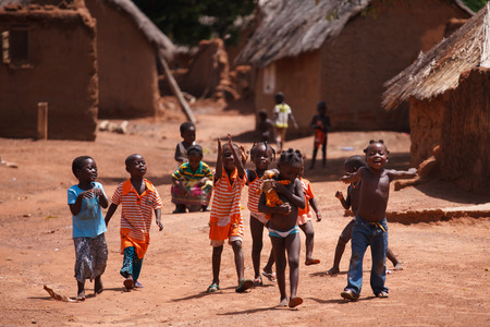 ethnic children: Group of African children, Ghana, West Africa Editorial