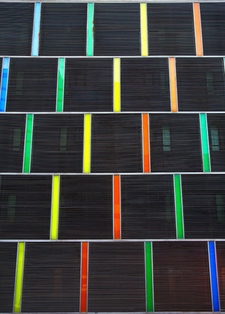 multi colors: Decoration of building exterior with multi colors