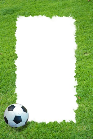Grass field and football frame photo