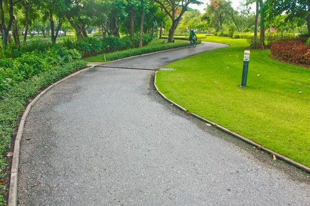 Path way in the park photo