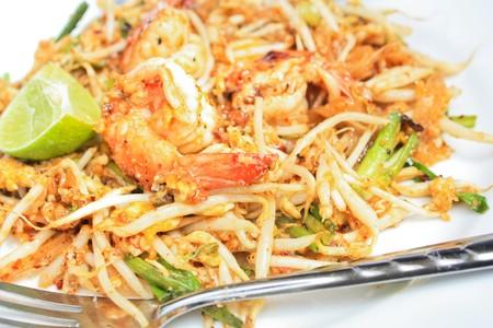 Fried noodle with shrinp photo