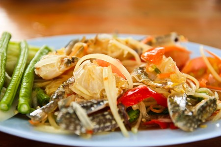 Sea food papaya salad Stock Photo - 7463795