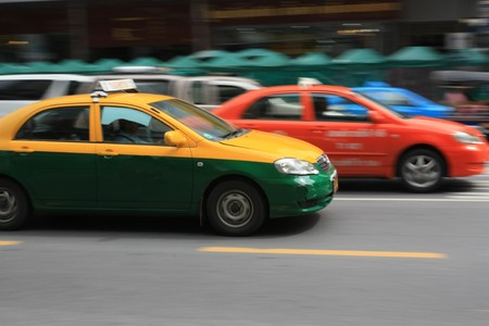 Motion blur of taxi Stock Photo - 7723412