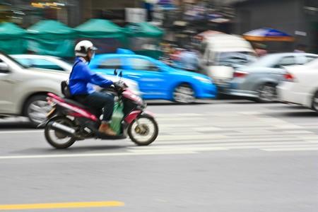 Motion blur of motor bike Stock Photo - 7723414
