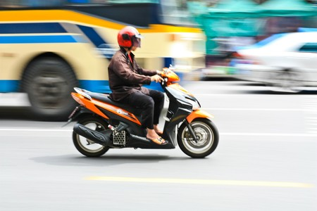 Motion blur of motor bike Stock Photo - 7723411