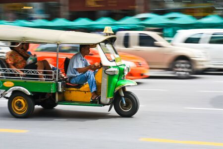 Motion blur of Tuk tuk Stock Photo - 7723416