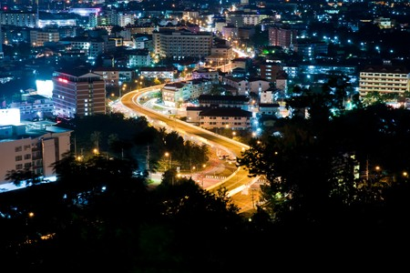 Top view of Pattaya night ,Thailand Stock Photo - 7877253
