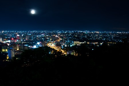 Top view of Pattaya night ,Thailand Stock Photo - 7877250