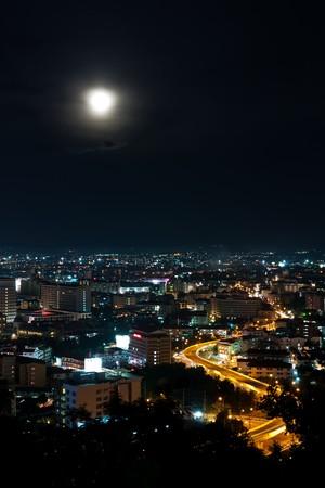 Top view of Pattaya night ,Thailand photo