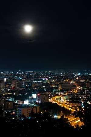 Top view of Pattaya night ,Thailand