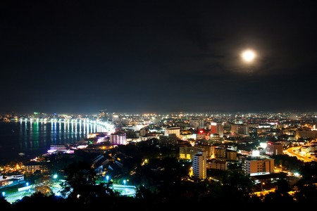Top view of Pattaya night ,Thailand photo