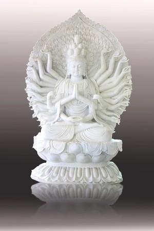 White jade Chinese angel