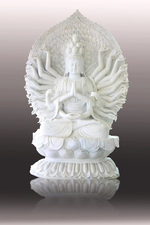 White jade Chinese angel