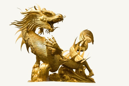 Golden dragon statue photo