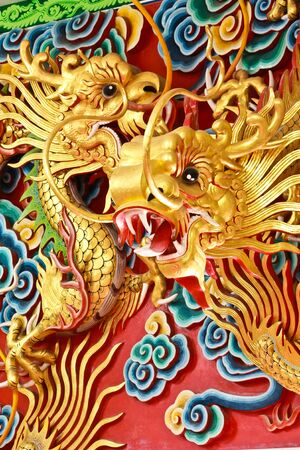 Golden dragon statue Stock Photo - 8306131