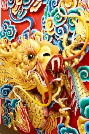 Golden dragon statue Stock Photo - 8306128