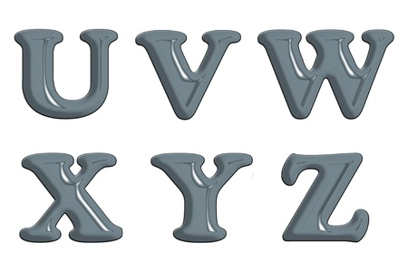 Metal letter on white back ground Stock Photo - 9072321