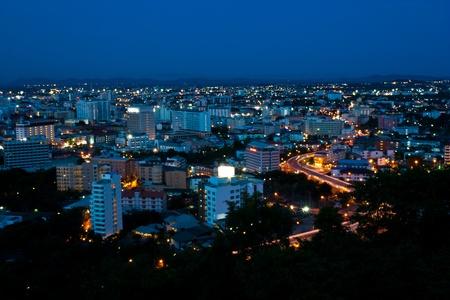 Sky way in Pattaya city Thailand Stock Photo - 9598941
