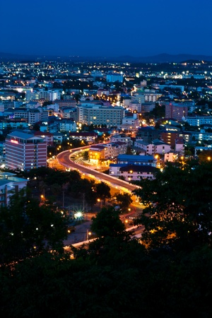 Sky way in Pattaya city,Thailand