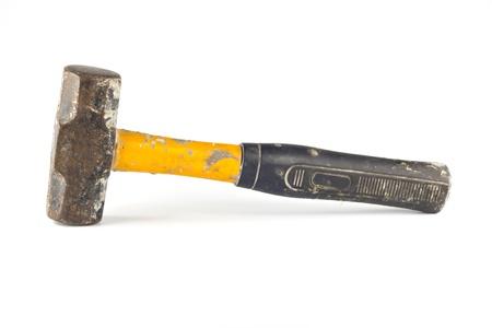 Sledgehammer isolated on white background photo