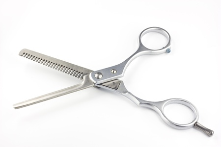 Barber scissors isolated on white background Stock Photo - 9687189