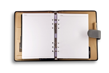 Note book with cover isolated on white background Banque d'images