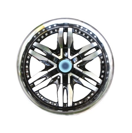 Alloy wheel with clipping path isolated on white background Stock Photo - 10530335
