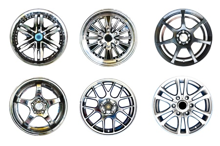 Alloy wheels with clipping path isolated on white background Stock Photo - 10548466