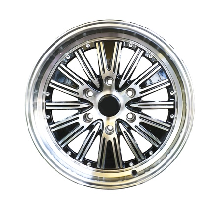 Alloy wheel with clipping path isolated on white background Stock Photo - 10548465