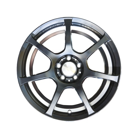 Alloy wheel with clipping path isolated on white background Stock Photo - 10548463
