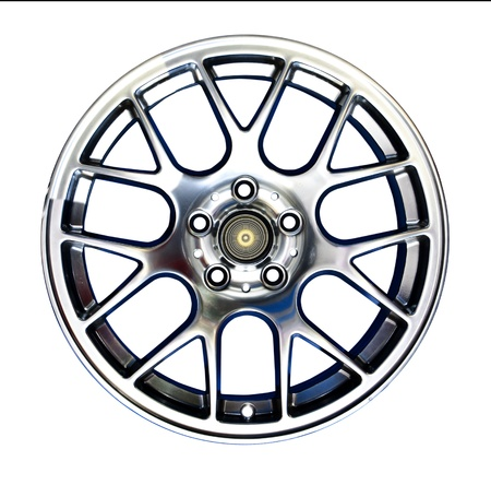 Alloy wheel with clipping path isolated on white background Stock Photo - 10548468