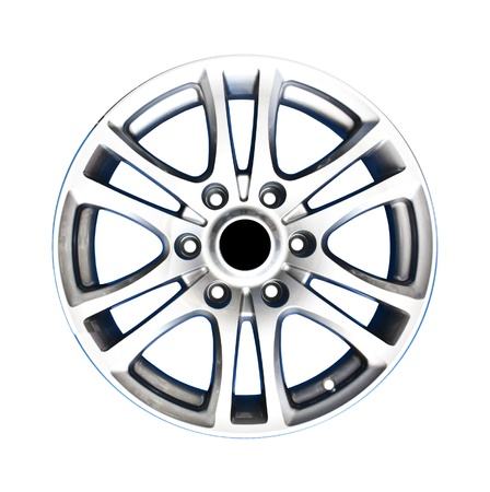 rims: Alloy wheel with clipping path isolated on white background