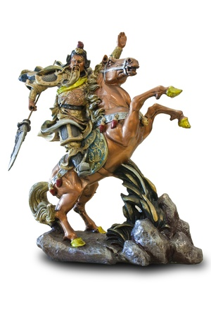 worshipped: Kuan Chinese god of war statue