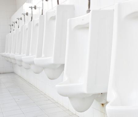 Men toilet in white color photo