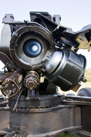 breech: Cannon barrel and breech block Stock Photo