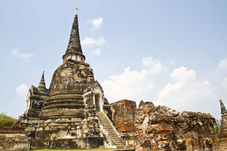 Ancient Buddhism stupa in Thailand photo