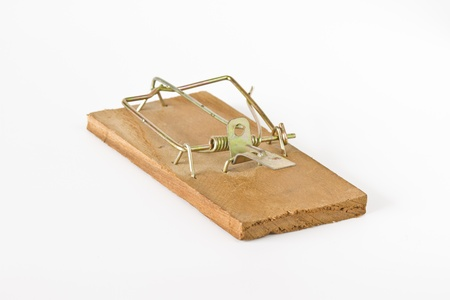 Rat trap on white background