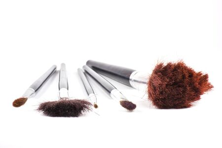 Soft brushes on white background photo