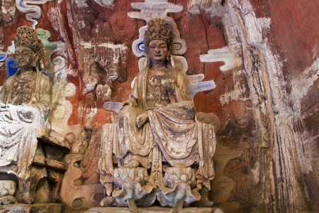ancient philosophy: Ancient rock carving  in Dazu ,China
