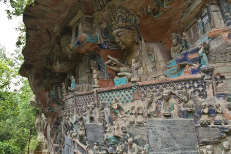 Ancient rock carving  in Dazu ,China