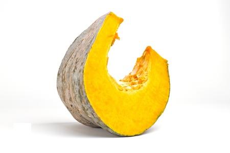 Piece of pumpkin on white background Stock Photo - 16924402