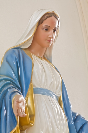Sculpture of Mary in church photo